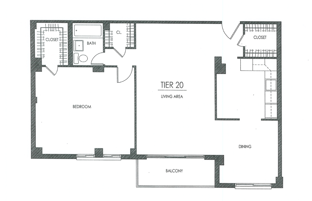 hampshire tower apartments one bedroom large with balcony floor plans